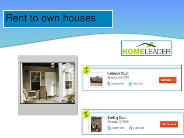 Rent to own houses