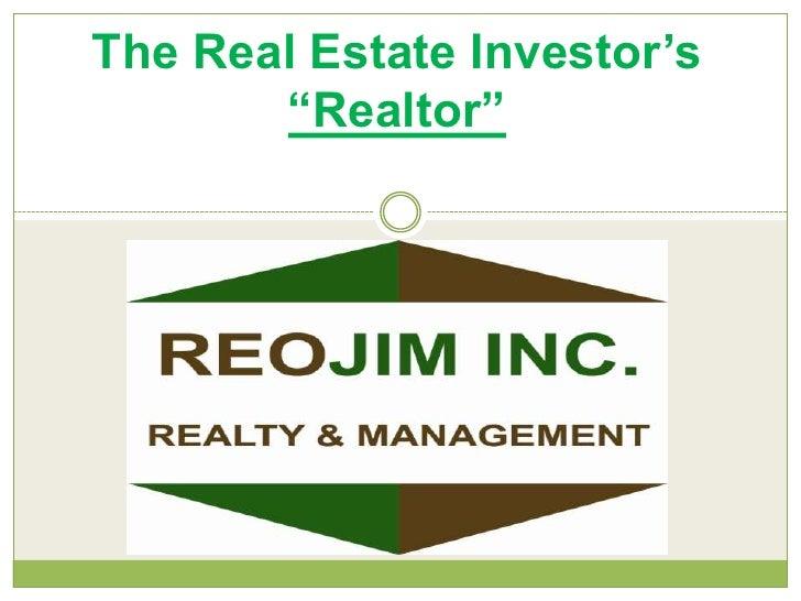 "The Real Estate Investor's ""Realtor"" <br />"