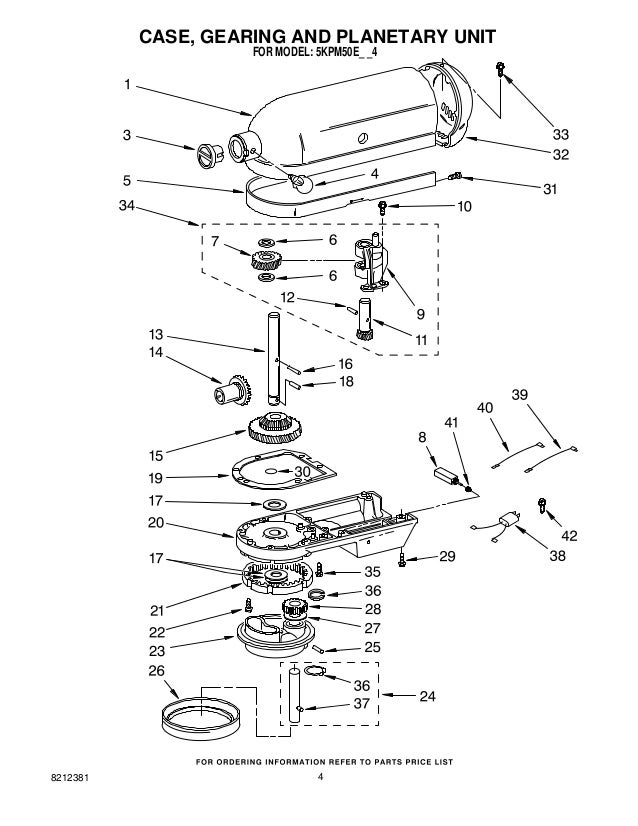 Replacement Parts List For Kitchenaid Stand Mixer