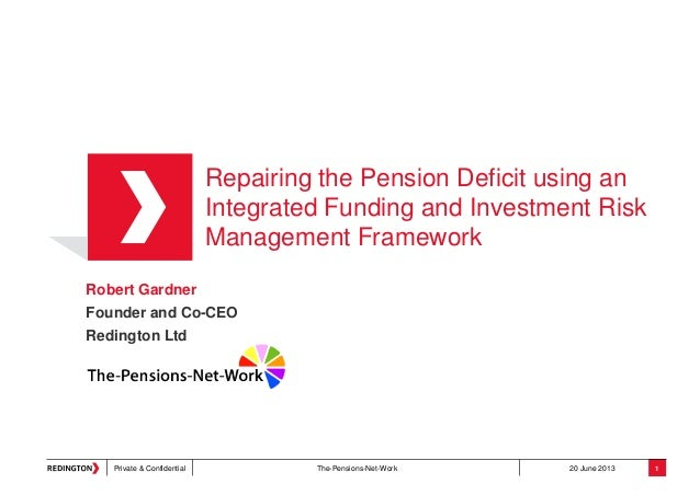 Repairing the Pension Deficit using an Integrated Funding and Investment Risk Management Framework