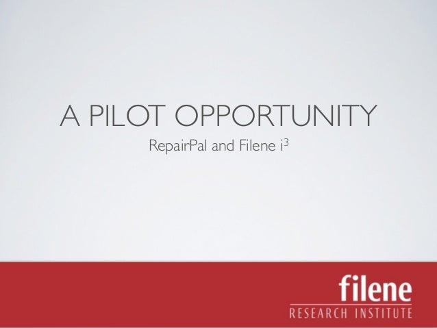 Filene RepairPal Pilot