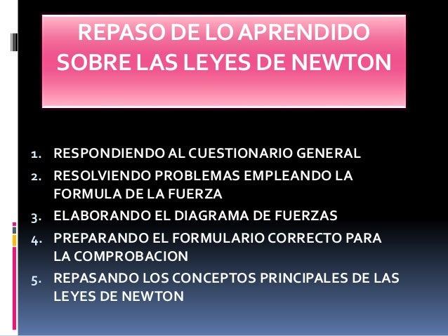 3 leyes de newton: