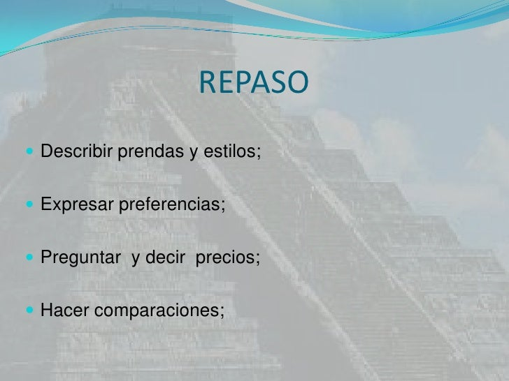 Repaso 6ª serie espanhol 27demaio