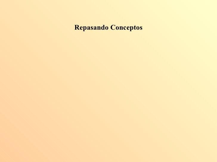 Repasando conceptos - Costos