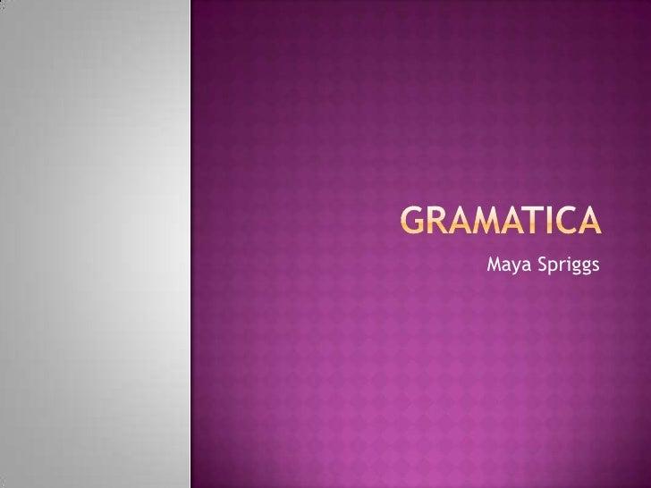 grammar book (Maya)