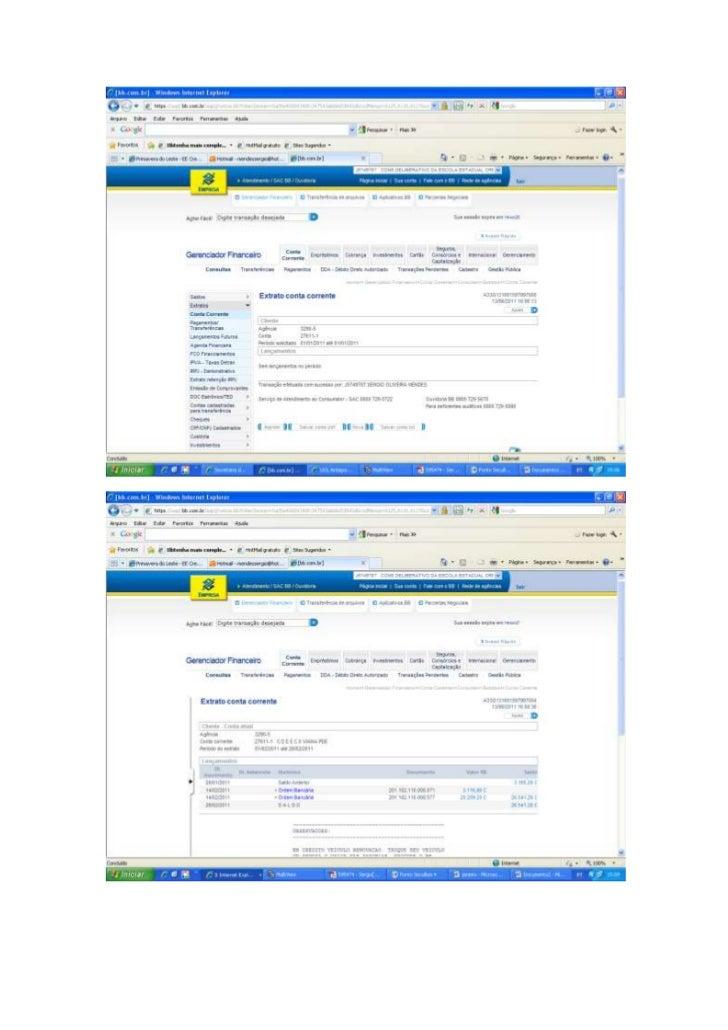 EXTRATOS BANCÁRIOS DOS REPASSES DO PDE - JAN A MAIO/2011