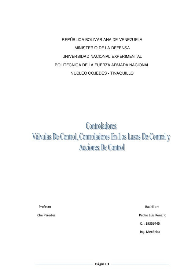 REPÚBLICA BOLIVARIANA DE VENEZUELA                   MINISTERIO DE LA DEFENSA              UNIVERSIDAD NACIONAL EXPERIMENT...