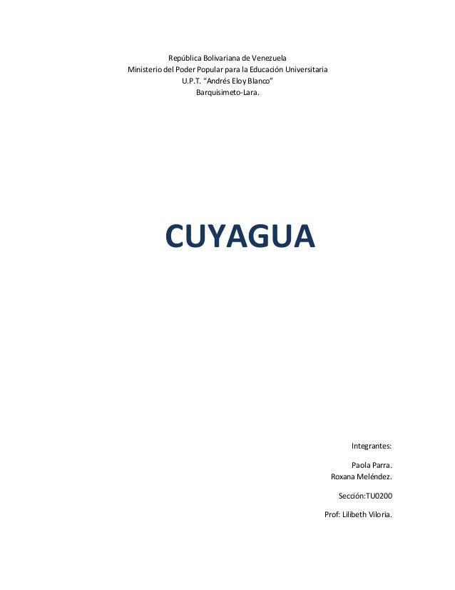 """República Bolivariana de VenezuelaMinisterio del Poder Popular para la Educación Universitaria                U.P.T. """"Andr..."""