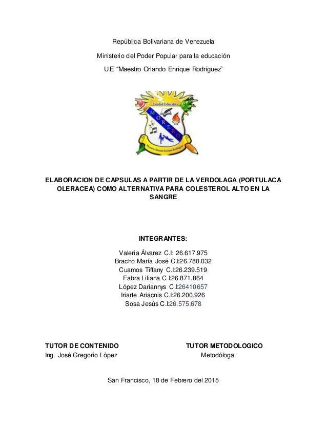 """República Bolivariana de Venezuela Ministerio del Poder Popular para la educación U.E """"Maestro Orlando Enrique Rodríguez"""" ..."""