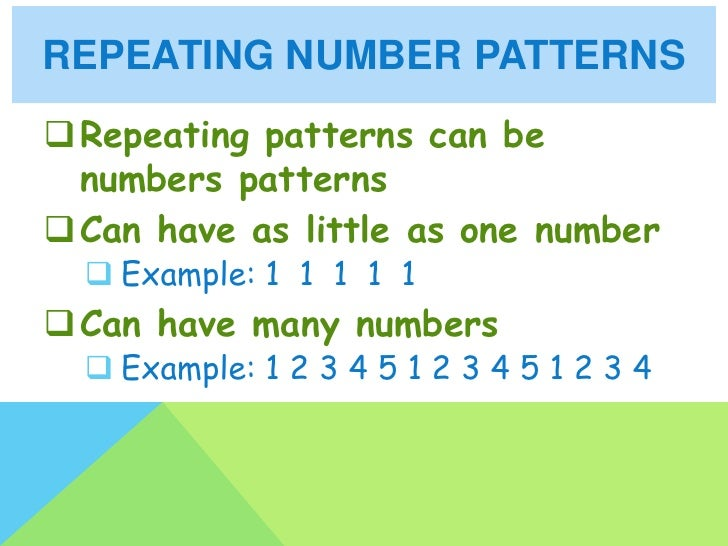 Repeating pattern worksheets 4th grade
