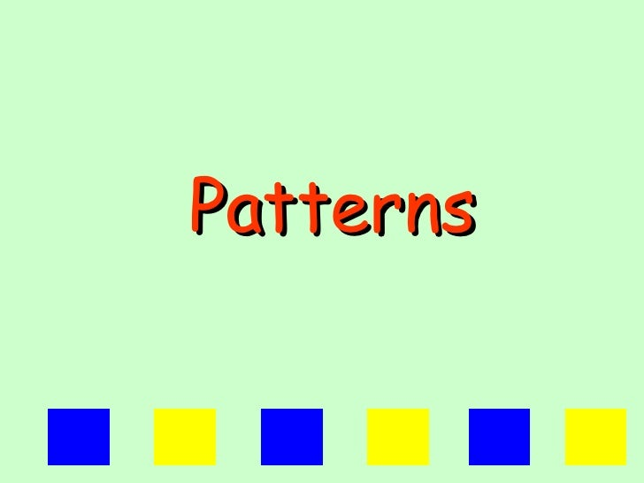 Repeating patterns 1