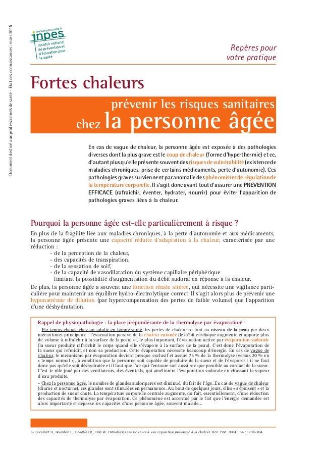 Pourquoi la personne âgée est-elle particulièrement à risque ? En plus de la fragilité liée aux maladies chroniques, à la ...