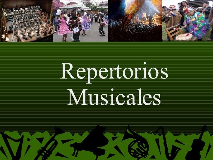 Repertorios Musicales