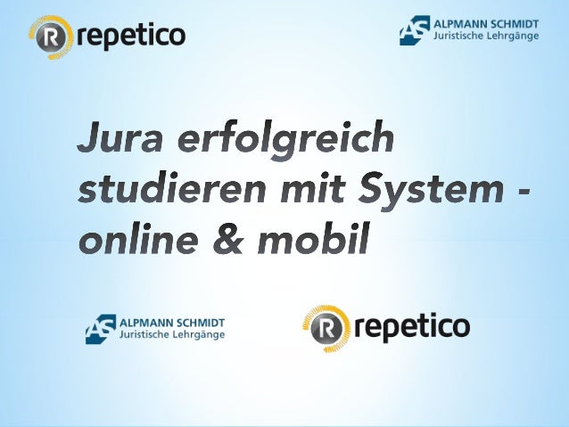 Was ist Repetico? (I) Repetico ist die führende digitale Jura Lernkartei, mit der Du online am PC / MAC & mobil auf Deine...