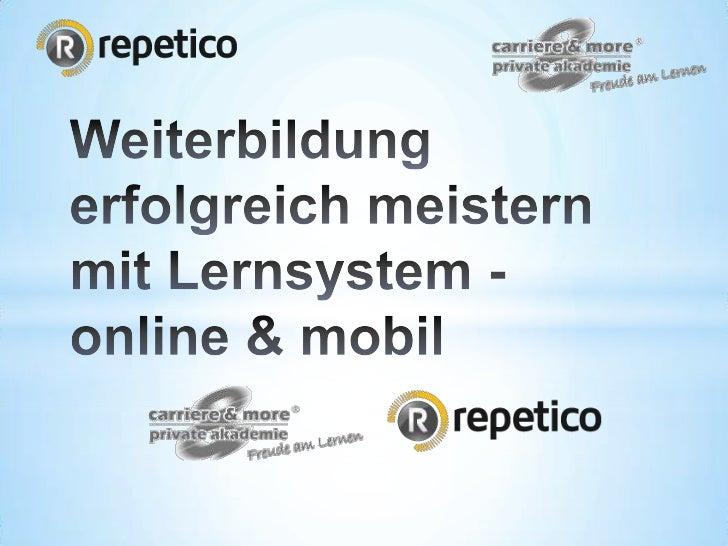 Was ist Repetico? Repetico ist die führende digitale Lernkartei, mit der Du  online am PC / MAC & mobil auf Deinem Smartp...