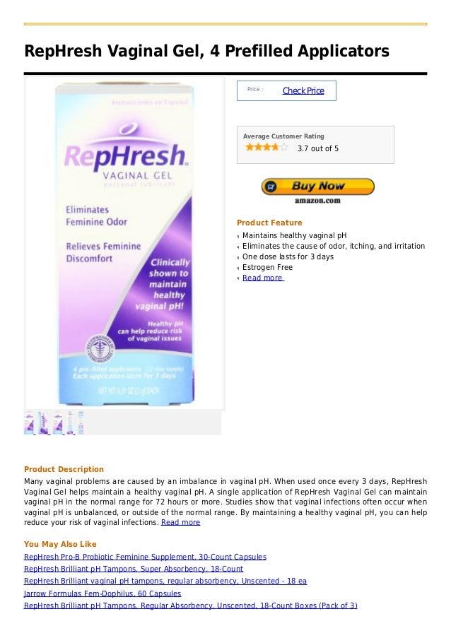 RepHresh Vaginal Gel, 4 Prefilled Applicators                                                              Price :        ...