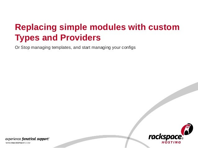 Replacing Simple Puppet Modules with Providers
