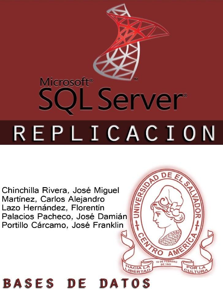 Replicacion sql server