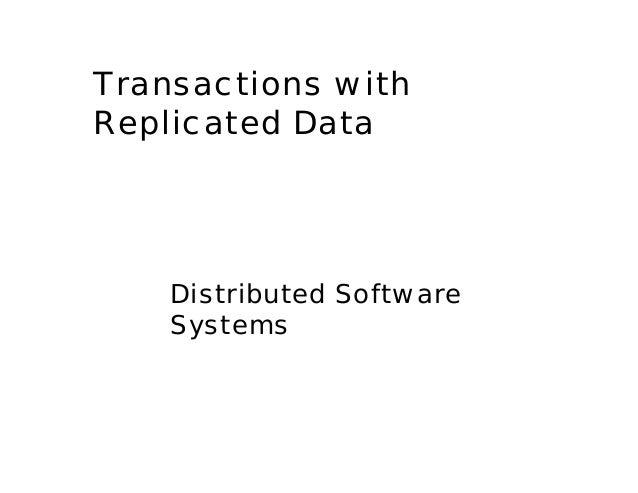 Replicated data