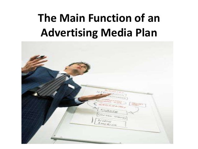Replica the main function of an advertising media plan pp slides