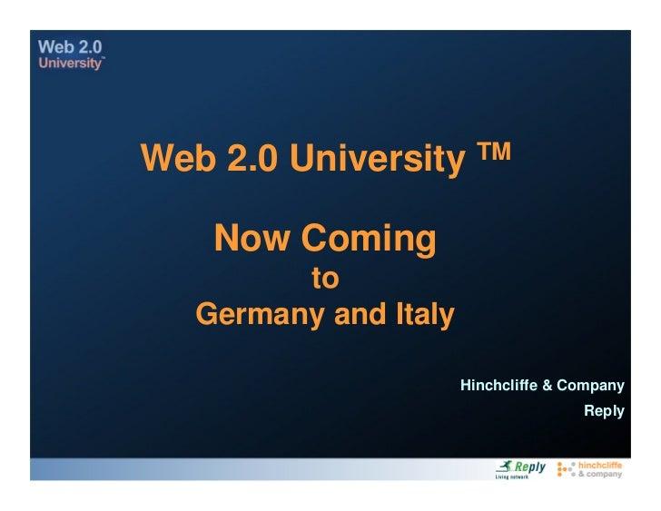 Reply Web20 University
