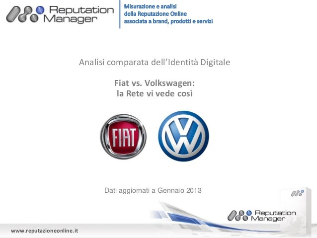 Analisi comparata dell'Identità Digitale                                    Fiat vs. Volkswagen:                          ...
