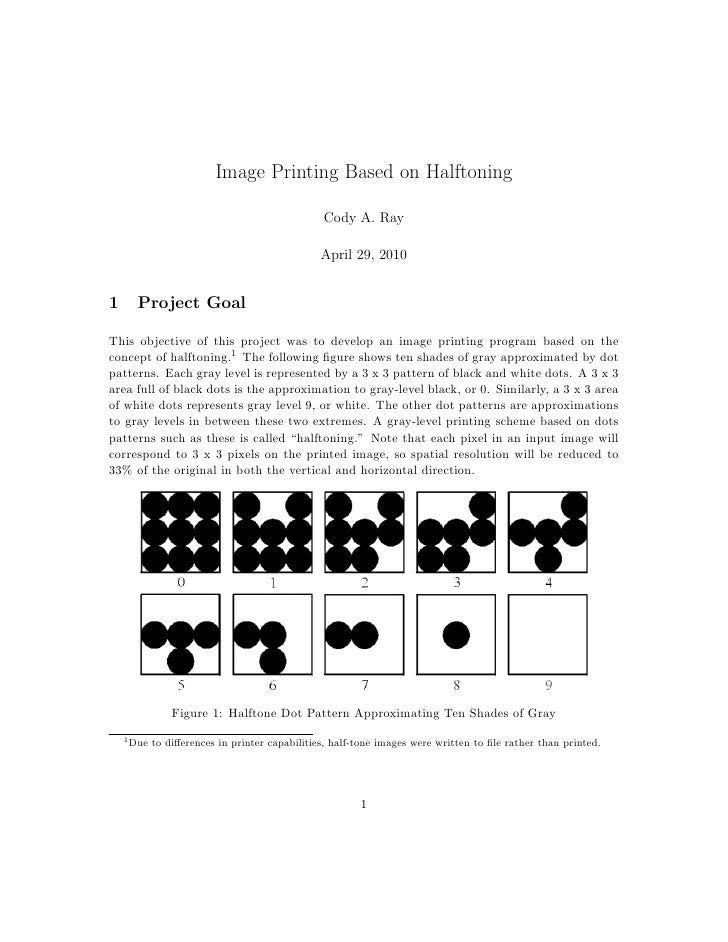 Image Printing Based on Halftoning