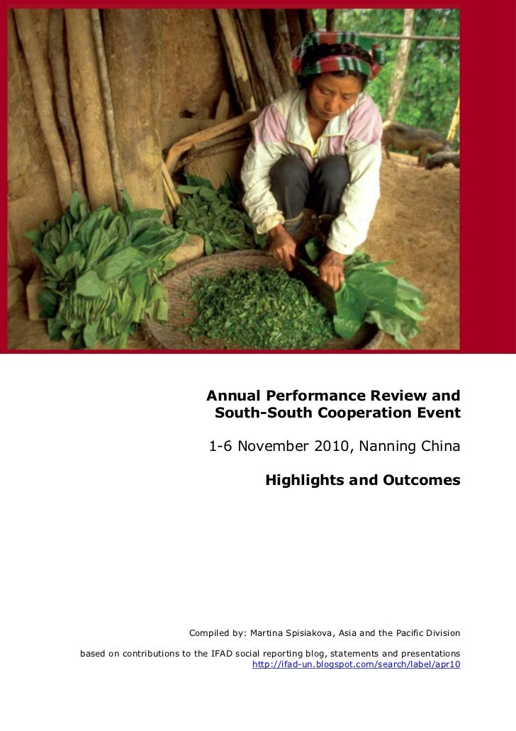Annual Performance Review and                             South-South Cooperation Event                            1-6 Nov...