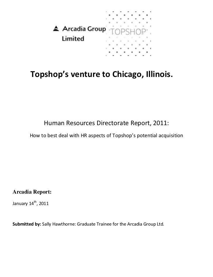 1461902-653153409315-41910Topshop's venture to Chicago, Illinois.Human Resources Directorate Report, 2011:How to best deal...