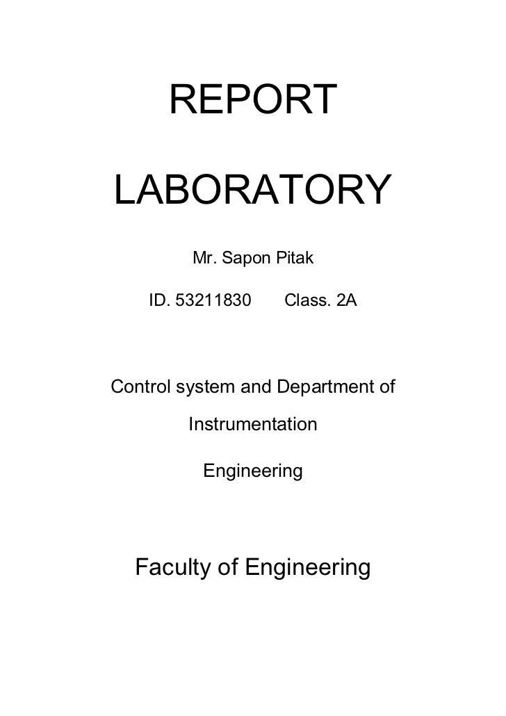 REPORTLABORATORY         Mr. Sapon Pitak    ID. 53211830    Class. 2AControl system and Department of        Instrumentati...