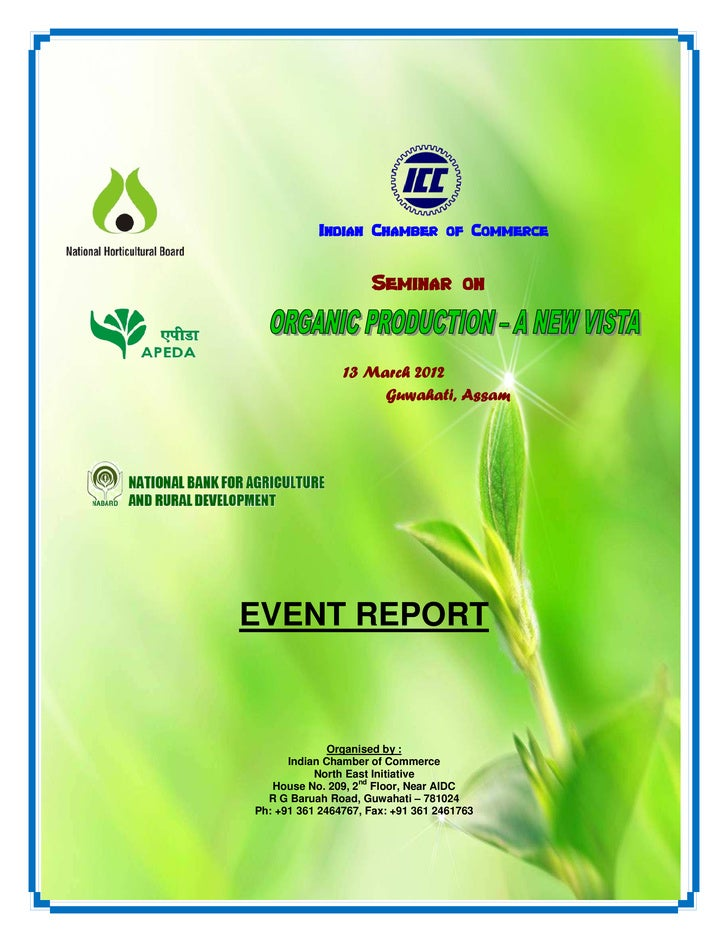 Report on Organic Production - A New Vista