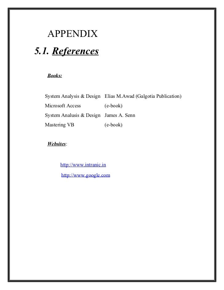 project report on book management system