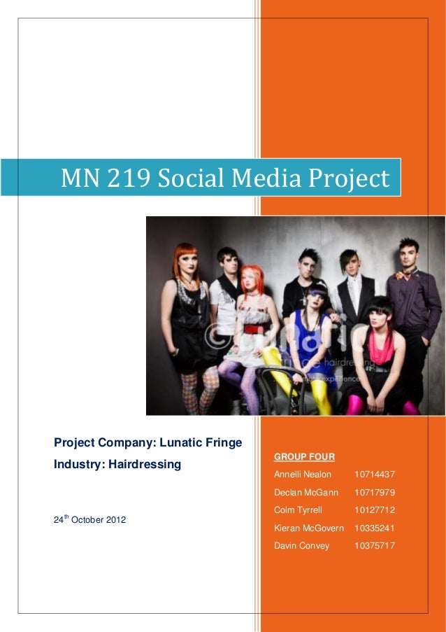 MN 219 Social Media ProjectProject Company: Lunatic Fringe                                  GROUP FOURIndustry: Hairdressi...