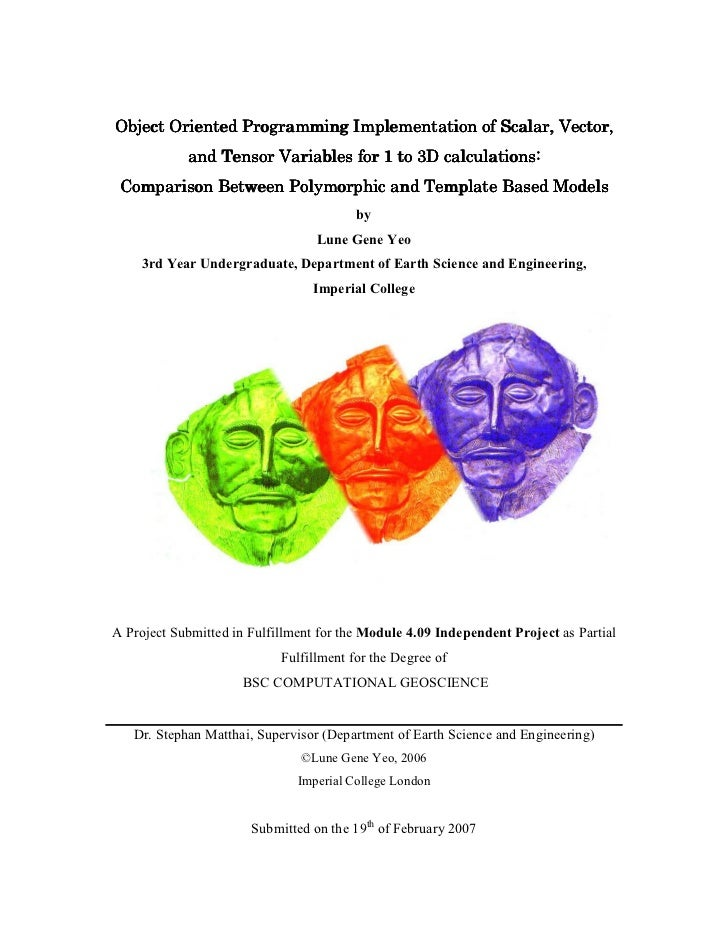 Object Oriented Programming Implementation of Scalar, Vector, and Tensor Variables for 1 to 3D calculations: Comparison Between Polymorphic and Template Based Models (2006)