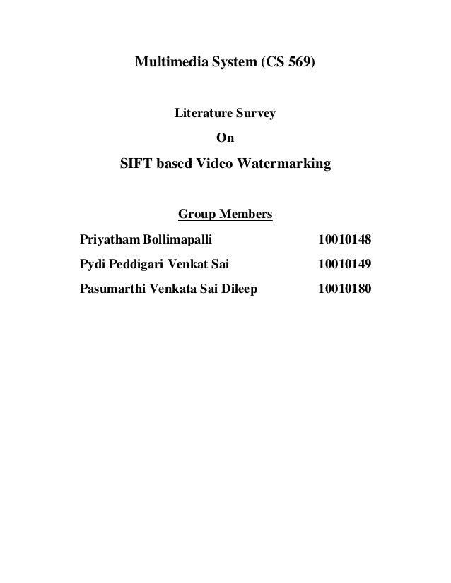 Literature Survey on Interest Points based Watermarking