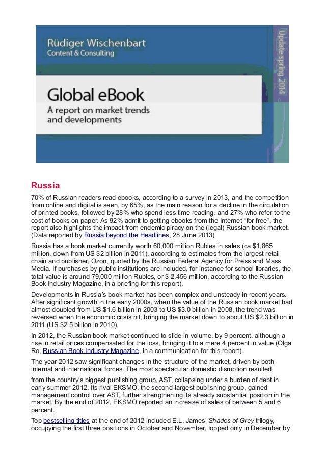 The Spring 2014 update of the Global eBook report (pp 58-62, Russia)