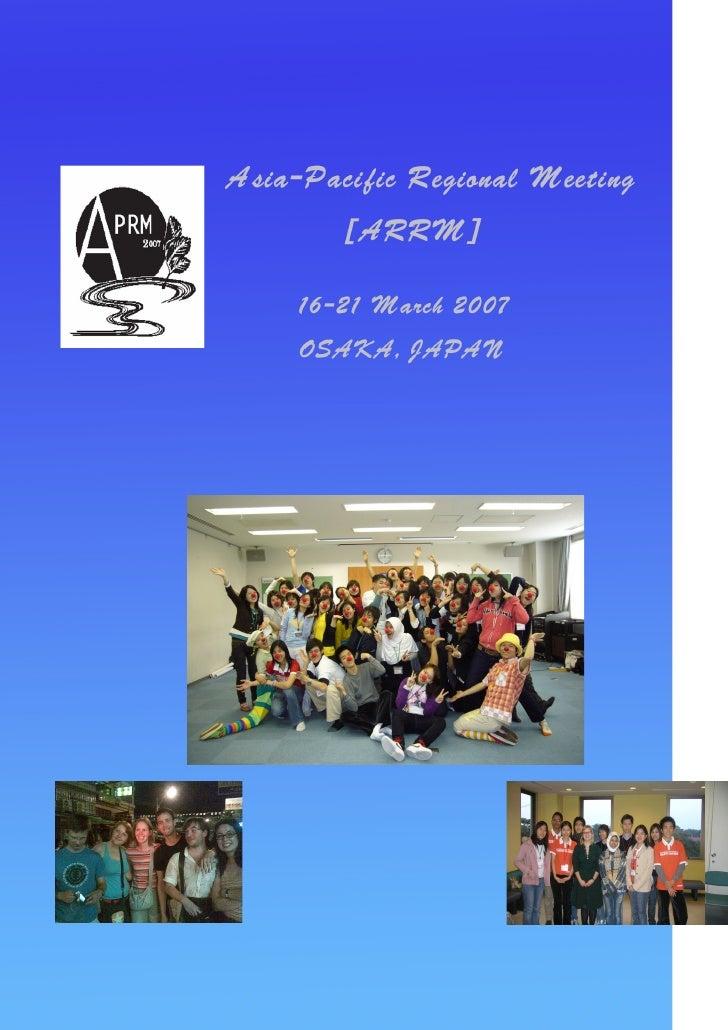 Report Aprm 2007