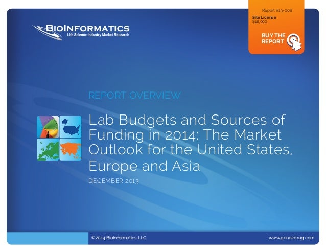 Report #13-008 Site License $18,000  BUY THE REPORT  REPORT OVERVIEW  Lab Budgets and Sources of Funding in 2014: The Ma...