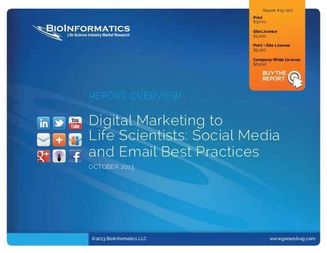 Digital Marketing to Life Scientists: Social Media and Email Best Practices