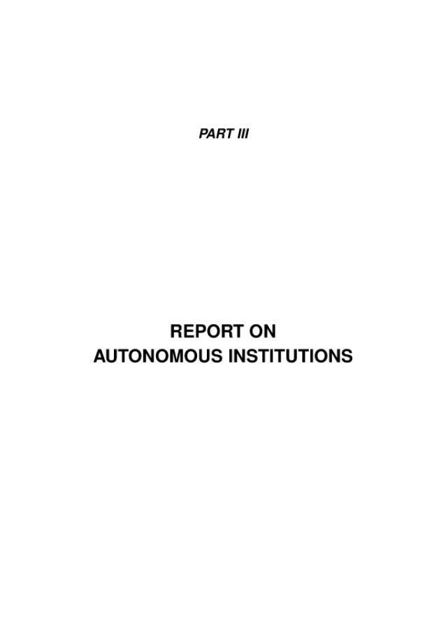Report On Autonomous Instituionspdf