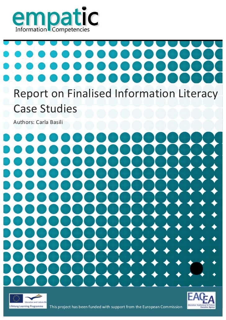 Report on Finalised Information Literacy Case Studies