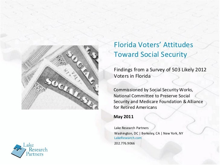 Florida Voters' Attitudes Toward Social Security