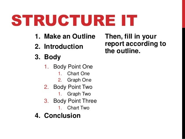 Report writing outline