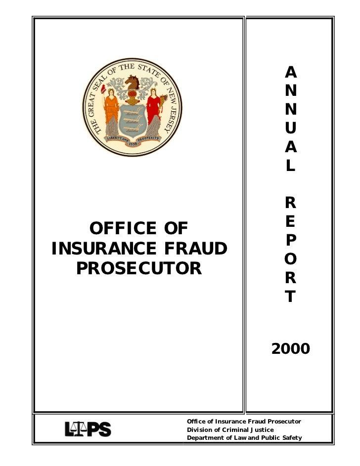 OFFICE OF INSURANCE FRAUD PROSECUTOR | Car Insurance In nj