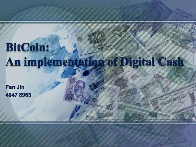 Presentation of Bitcoin