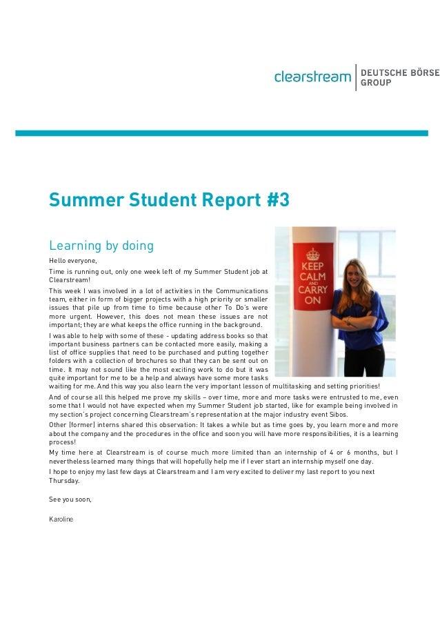 Summer Student Report #3