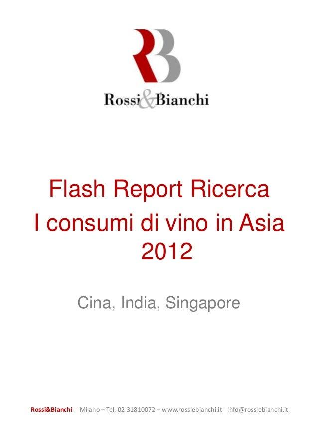 2012 consumi di vino in Asia