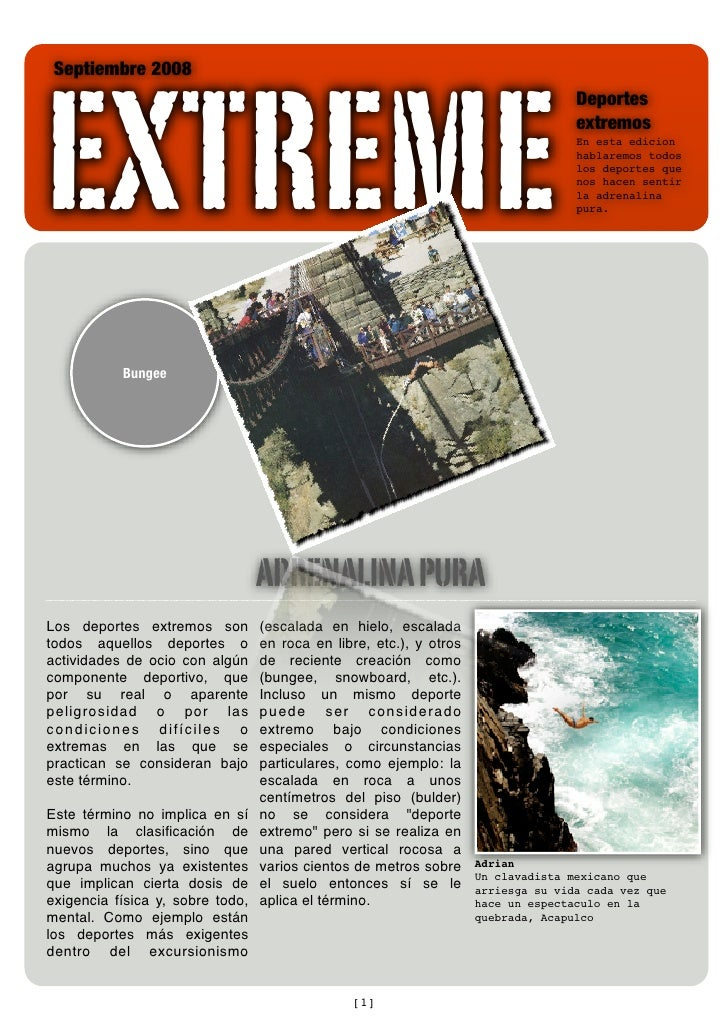 EXTREME  Septiembre 2008                                                                                     Deportes     ...