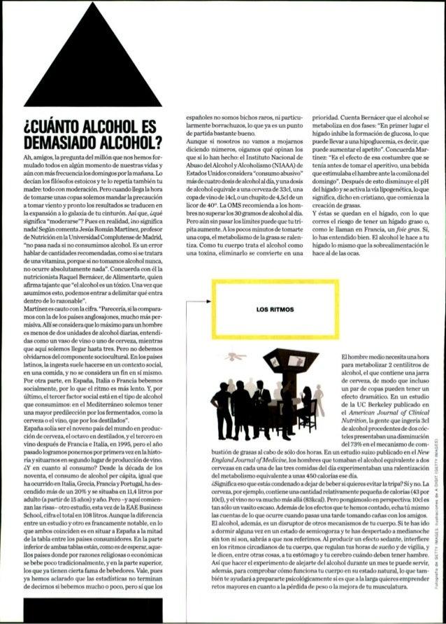 Reportaje en Men's Health sobre consumo de alcohol en España, datos del estudio del SRC de EAE