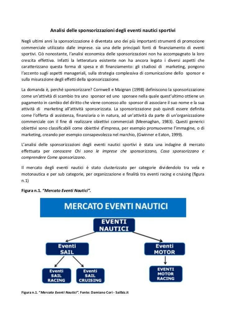 Analisi delle sponsorizzazioni degli eventi nautici sportiviNegli ultimi anni la sponsorizzazione è diventata uno dei più ...